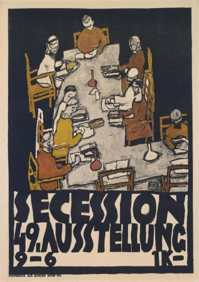 Schiele, Egon: Secession 49. Fine Art Print/Poster. Sizes: A4/A3/A2/A1 (003713)